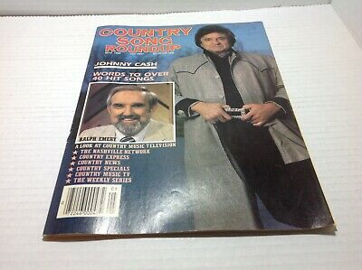 Vtg Country Song Roundup Magazine May 1986 Johnny Cash Ralph Emery & More
