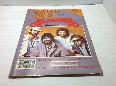 Vtg Country Song Roundup Magazine Aug 1986  Alabama Tanya Tucker Twitty & More