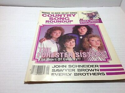 Vtg Country Song Roundup Magazine Sep 1986 Forester Sisters Charlie Daniels
