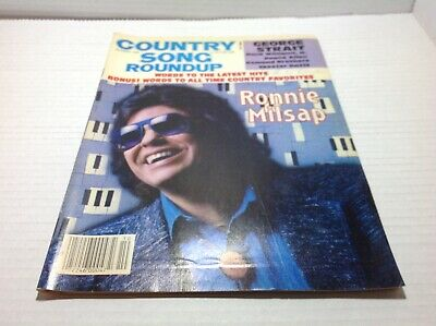 Vtg Country Song Roundup Magazine Oct 1986 Ronnie Milsap George Strait & More