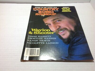 Vtg Country Song Roundup Magazine Nov 1986  Waylon & Shooter Randy Traviis More