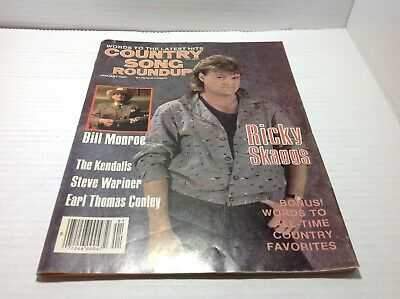 Vtg Country Song Roundup Magazine Jan1987 Ricky Skaggs Bill Monroe & More
