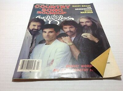 Vtg Country Song Roundup Magazine Mar 1987 Oak Ridge Boys Lee Greenwood  & More