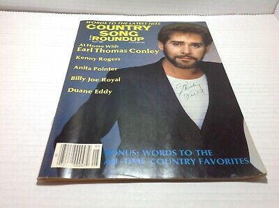 Vtg Country Song Roundup Magazine May 1987 Kenny Rogers Anita Pointer & More