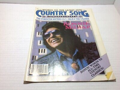 Vtg Country Song Roundup Magazine Dec 1987 Ronnie Milsap K.T.  Oslin& More