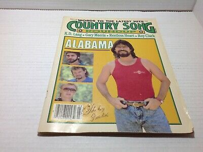 Vtg Country Song Roundup Magazine Mar 1988 Alabama K.D. Lang Roy Clark & More