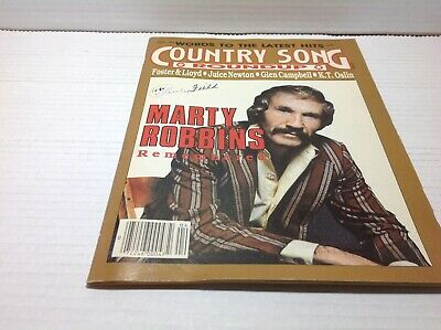 Vtg Country Song Roundup Magazine Apr 1988 Marty Robbins Juice Newton  & More