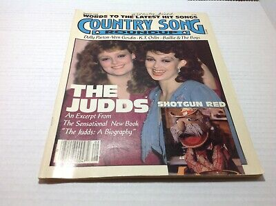 Vtg Country Song Roundup Magazine Aug 1988 The Judds Dolly Parton  & More