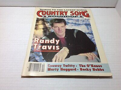 Vtg Country Song Roundup Magazine Oct 1988 Randy Travis Conway Twitty & More