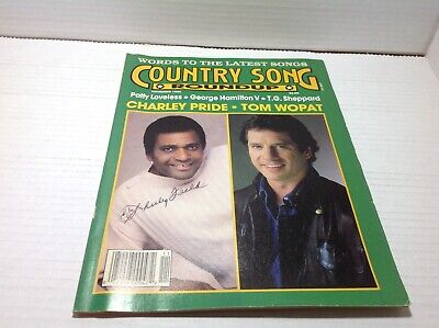 Vtg Country Song Roundup Magazine Nov 1988 Charlie Pride Tom Wopat  & More