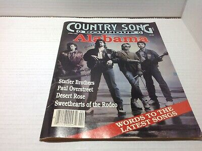 Vtg Country Song Roundup Magazine Apr 1989 Alabama Statler Brothers & More