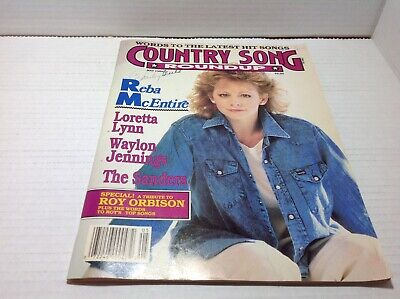 Vtg Country Song Roundup Magazine May 1989  Reba McEntire Roy Orbison & More