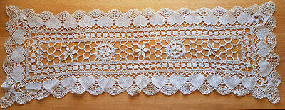Lace runner, white, vintage or possibly antique