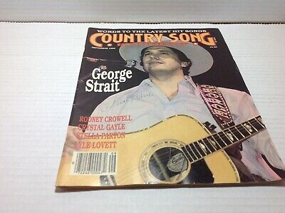 Vtg Country Song Roundup Magazine Sept 1989  George Strait Lyle Lovett & More