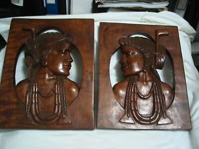 Decorative Pair American Indian First Nation Figures