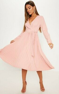 pretty little thing 12 rose pink dress BNWT RRP £35