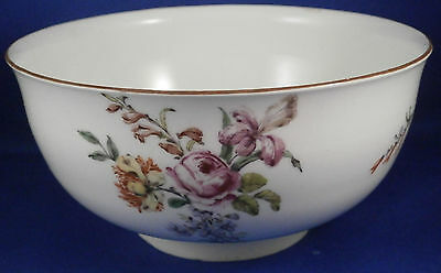 Antique 18thC Chelsea Porcelain Soft Paste Floral Bowl Red Anchor Period England