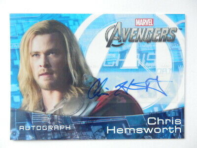 Thor Chris Hemsworth autograph card Avengers 2012 - posting to Australia only