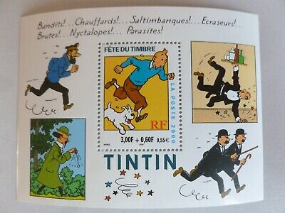 PLANCHE TIMBRE FRANCE NEUF 2000 fête du timbre TINTIN / YVERT & TELLIER N° 3303