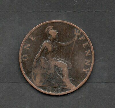 Dated :*** 1898 *** - One Penny / 1d - Coin - Queen Victoria - Great Britain