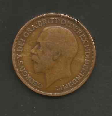 1916 1d George V Coin.used in Ireland & England during the war of Independence