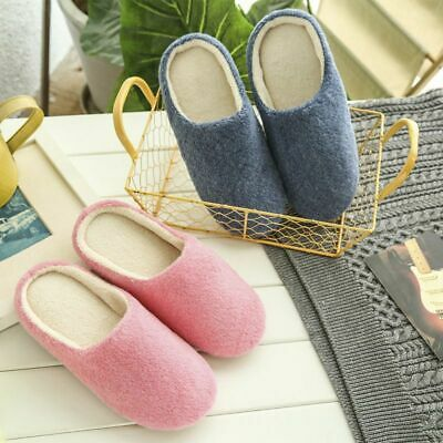 Men Women Anti-slip Slippers Shoes Soft Flat Coral Velvet Sandal House Bedroom