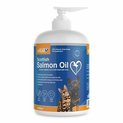 Salmon Oil For Dogs and Cats 1 Litre, 100% Pure Scottish Salmon Oil, Fish Oil...