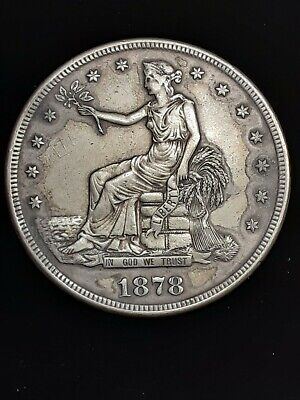 1878-S US Silver Trade Dollar!!! High Grade Coin!! In Rare Original BU+ State!!!