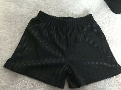 Black Sports Football Shorts Age 4-5 Years Good Condition