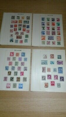 Older World Stamps On Album Pages A-G Used & Mint Unsorted (Ref SBW-13)