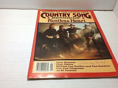 Vintage Country Song Roundup Magazine 1991 Restless Heart Jann Browne & More