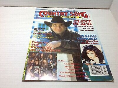 Vintage Country Song Roundup Magazine July 1991 Clint Black Marie Osmond & More