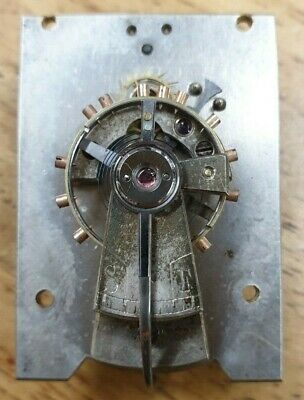 Large Antique Silvered Lever Clock Platform Escapement-No Reserve!