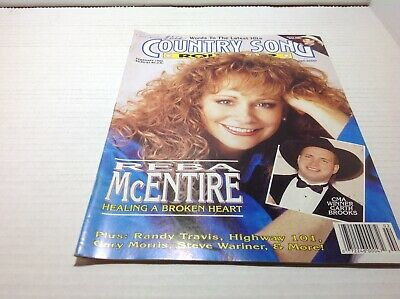Vintage Country Song Roundup Magazine Feb 1992 Reba McEntire Garth Brooks & More