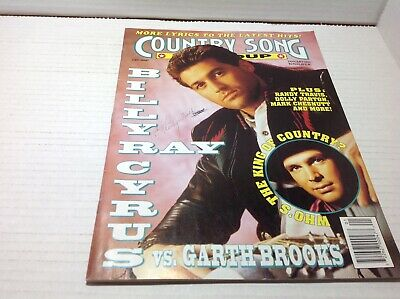 Vtg Country Song Roundup Magazine Jan 1993 Garth Brooks Billy Ray Cyrus & More