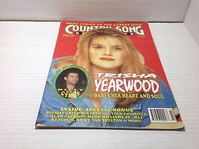 Vtg Country Song Roundup Magazine Feb 1993 Trisha Yearwood Billy Ray Cyrus& More