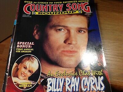 Vtg Country Song Roundup Magazine Apr 1993  Billy Ray Cyrus Lorrie Morgan & More