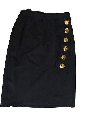 Vintage Yves Saint Laurent Black Skirt, Size 38