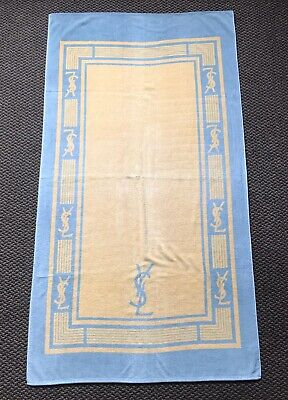 Vintage 1980 Yves Saint Laurent YSL Beach Towel Accessory