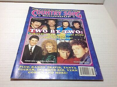 Vtg Country Song Roundup Magazine July 1993 Brooks Dunn Vince Gill & More