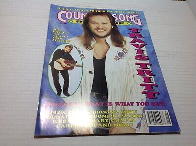 Vtg Country Song Roundup Magazine Aug 1993 Travis Tritt Joe Diffie & More