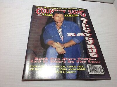 Vtg Country Song Roundup Magazine Oct 1993 Billy Ray Cyrus Vince Gill & More
