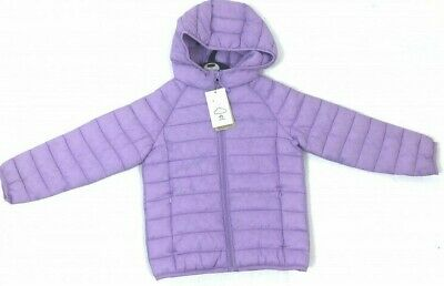 Girls M&S Lilac Padded Coat/Jacket with Hood  Ages 7,8,9,10,11NEW