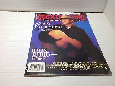 Vtg Country Song Roundup Magazine May1995 Alan Jackson John Berry & More