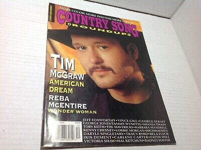 Vtg Country Song Roundup Magazine Dec 1995 Tim McGraw Reba McEtire  & More