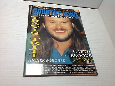 Vtg Country Song Roundup Magazine Feb 1996 Travis Tritt Garth Brooks  & More
