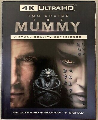 The Mummy 2017 4K Ultra Hd Blu Ray 2 Disc Set + Slipcover Walmart Exclusive Vr