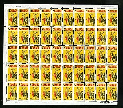 CANADA SHEET - Scott 483 - NH - Plate 1 - 5¢ Lacrosse Players (.023)