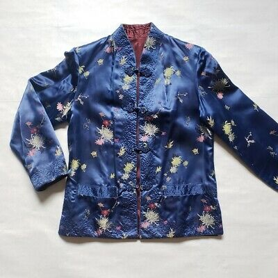 REVERSIBLE traditional style Chinese/Mandarin silky jacket