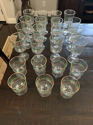 Arby's 1980's Collectible Christmas Glasses